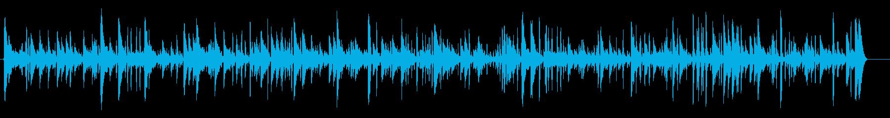 スタイリッシュ穏やかなジャズピアノ疾走感の再生済みの波形