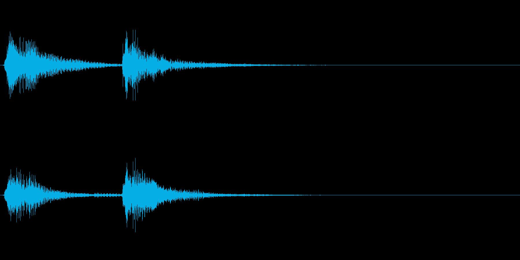 チャンチャンの再生済みの波形