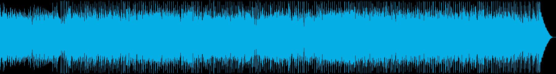 クリーンギターとピアノバラードの再生済みの波形