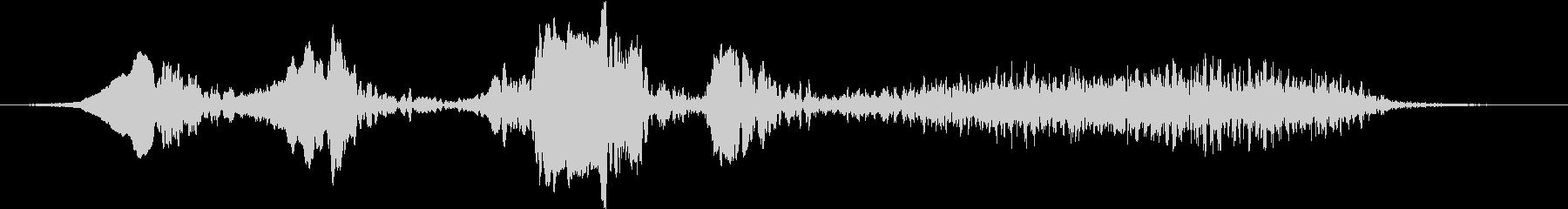 センダイムシクイのさえずりの未再生の波形