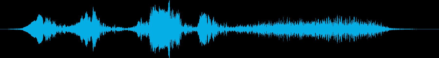 センダイムシクイのさえずりの再生済みの波形