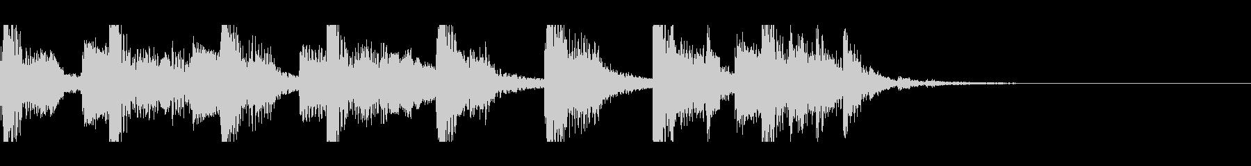 ディスコなジングルの未再生の波形