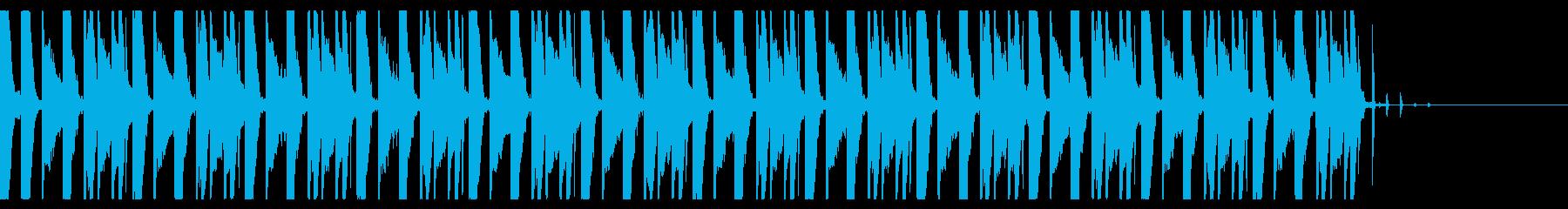 ファミコンゲームのピコピコしている音の再生済みの波形
