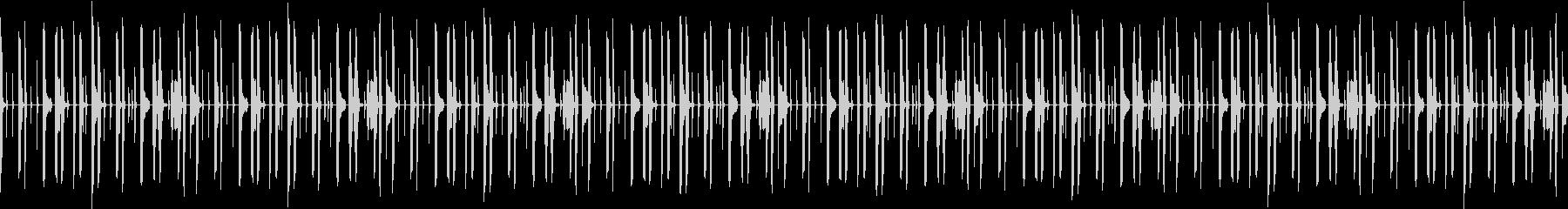 ドラムのみドライな打ち込みリズムループの未再生の波形