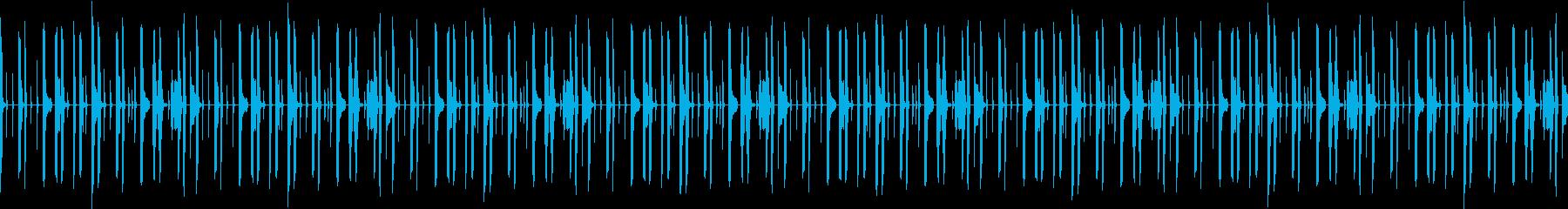 ドラムのみドライな打ち込みリズムループの再生済みの波形