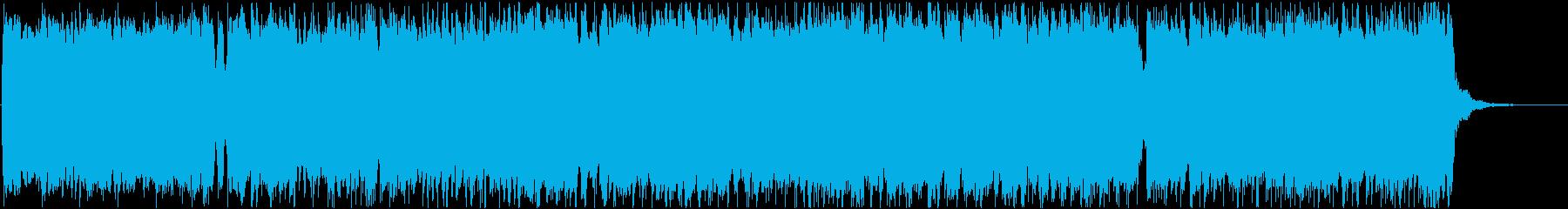 疾走感のある尺八の和風ロックバンドBGMの再生済みの波形