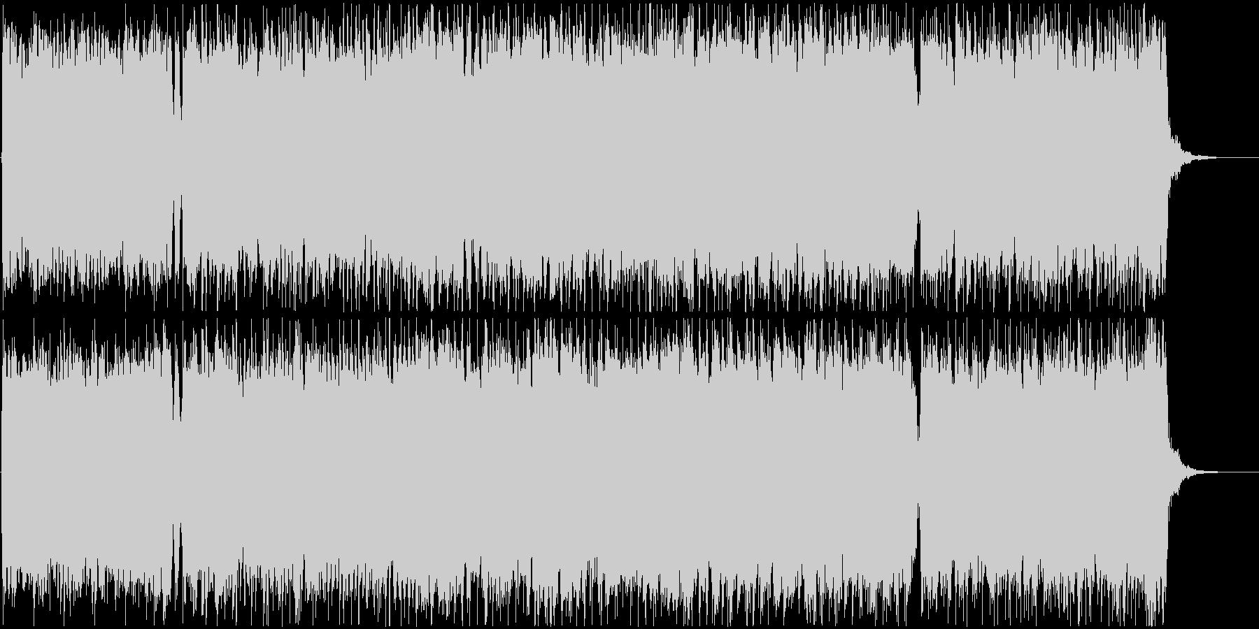 疾走感のある尺八の和風ロックバンドBGMの未再生の波形