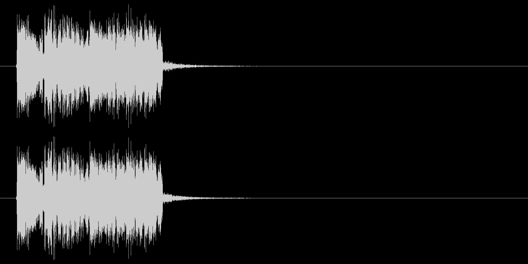 ハイテクでスピーディーなテクノジングルの未再生の波形
