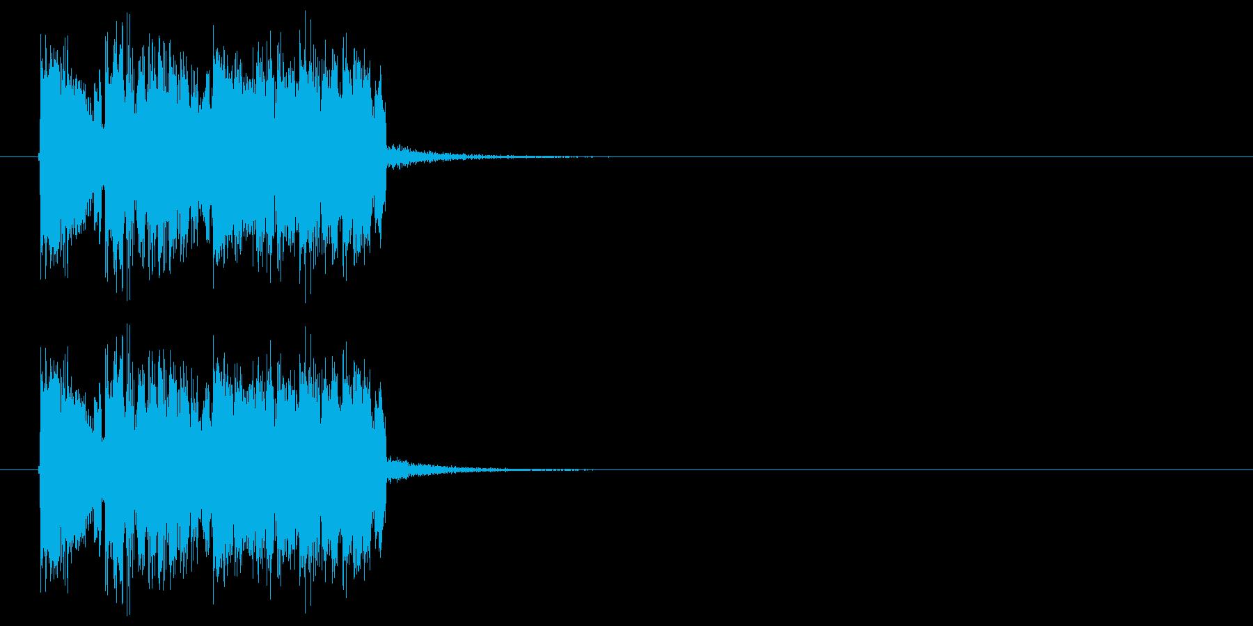 ハイテクでスピーディーなテクノジングルの再生済みの波形