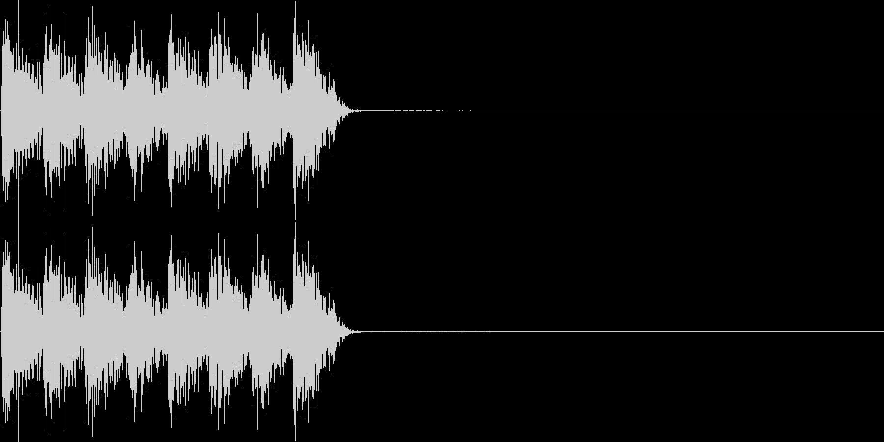 ガガガガ。発砲音F(連射・短め)の未再生の波形