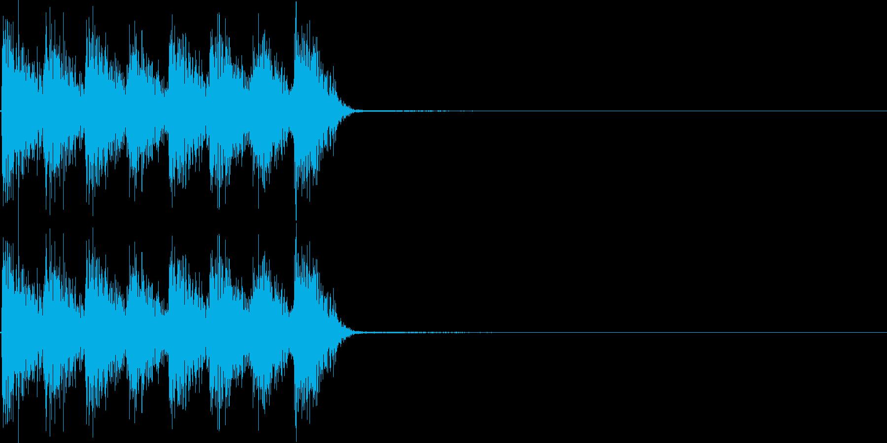 ガガガガ。発砲音F(連射・短め)の再生済みの波形
