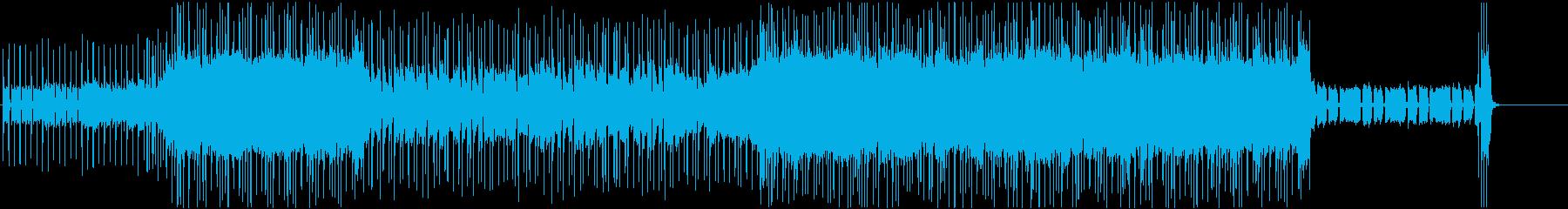 軽快でポップなギターロックの再生済みの波形