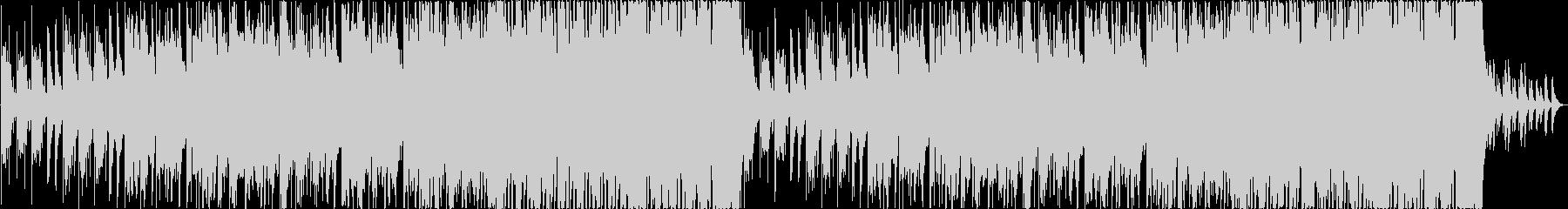 笛メイン、雪をイメージしたBGMの未再生の波形
