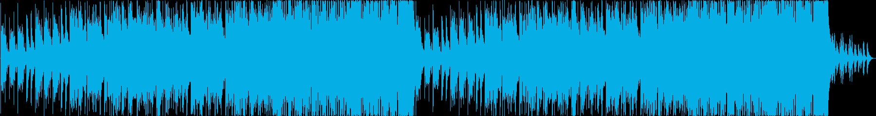 笛メイン、雪をイメージしたBGMの再生済みの波形
