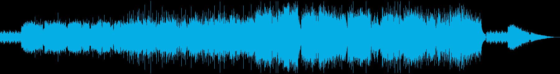 ほのぼの牧歌的な感じのケルトの笛の再生済みの波形