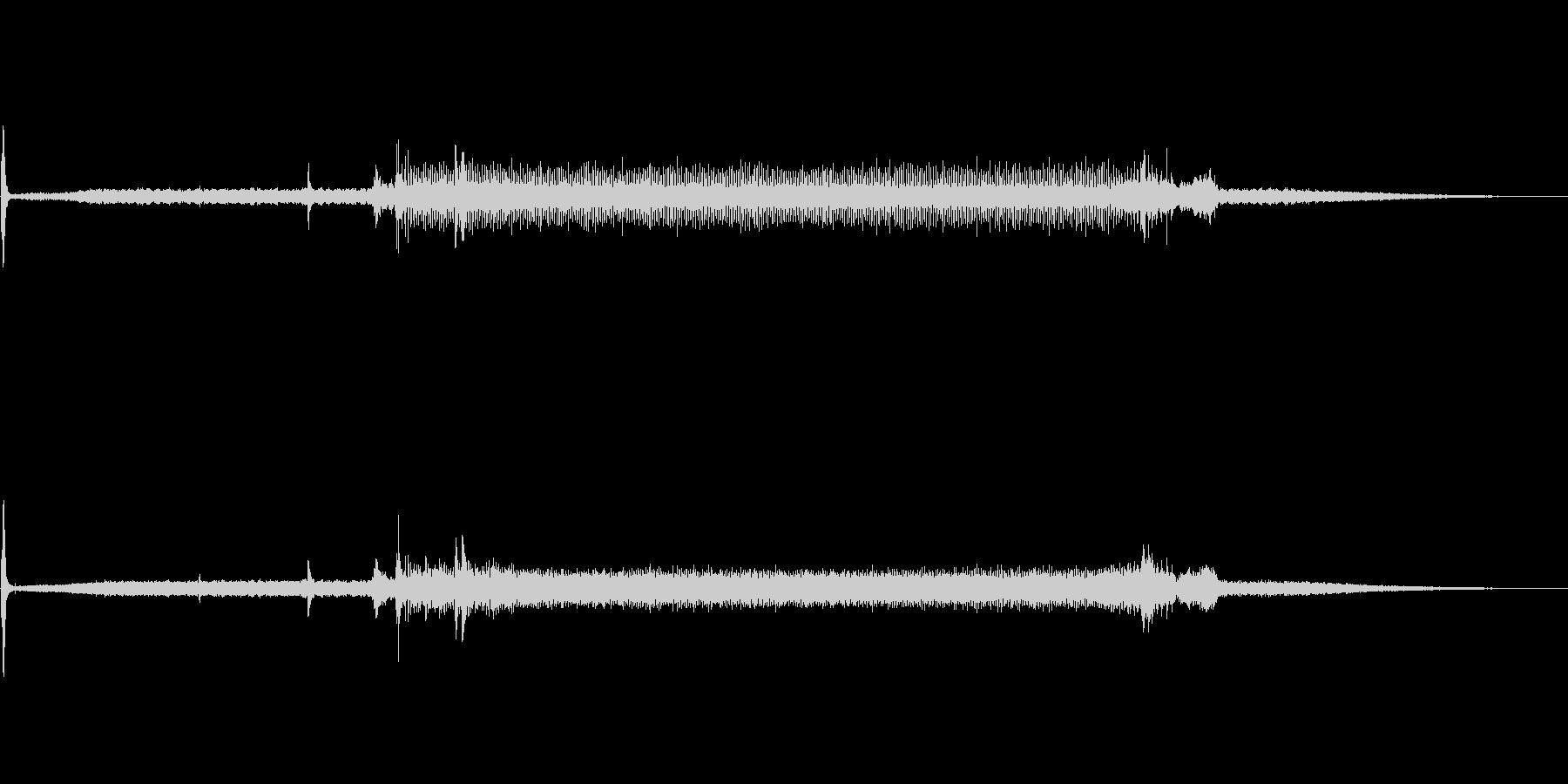 映写機のプロジェクター音の未再生の波形