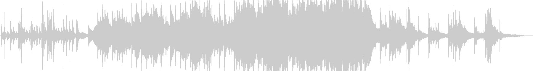 ピアノ・オーケストラによる感動的な曲の未再生の波形