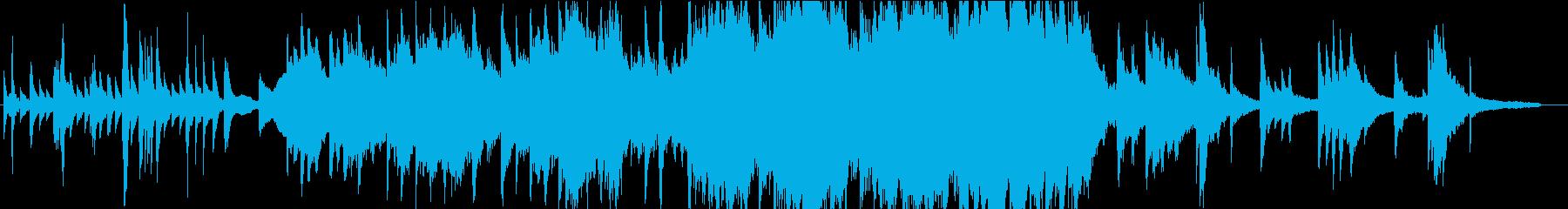 ピアノ・オーケストラによる感動的な曲の再生済みの波形