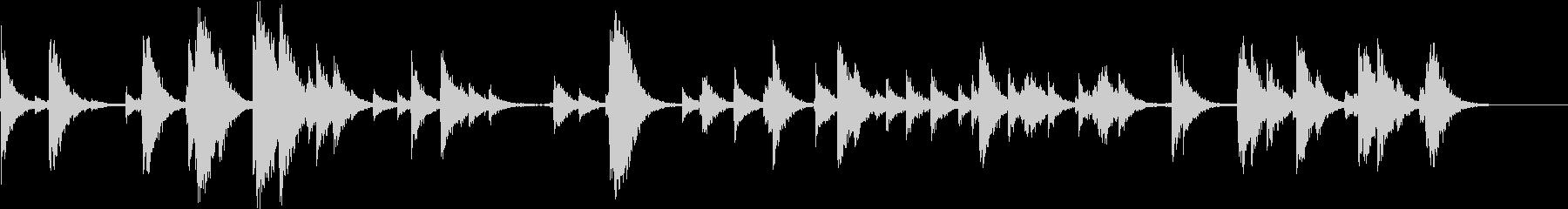 SFX 反響の大きな場所の階段を降る音の未再生の波形