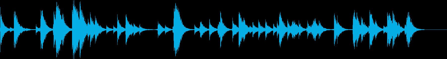 SFX 反響の大きな場所の階段を降る音の再生済みの波形