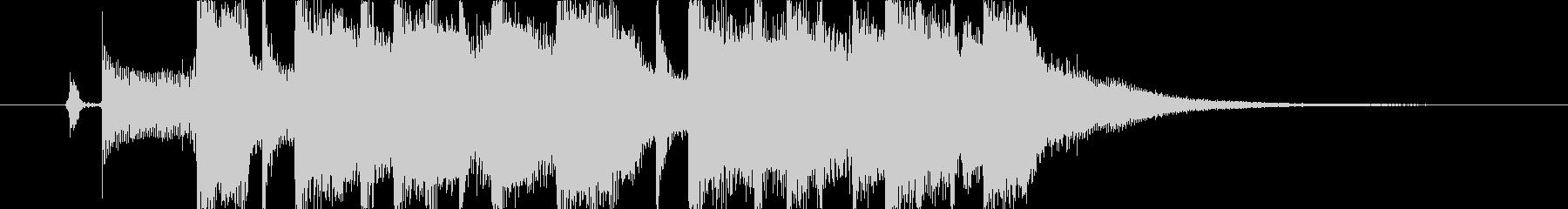 ラジオに合う明るいポップジングルの未再生の波形
