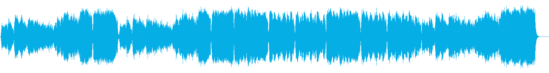 壮大なネイチャー風弦楽オーケストラ楽曲の再生済みの波形