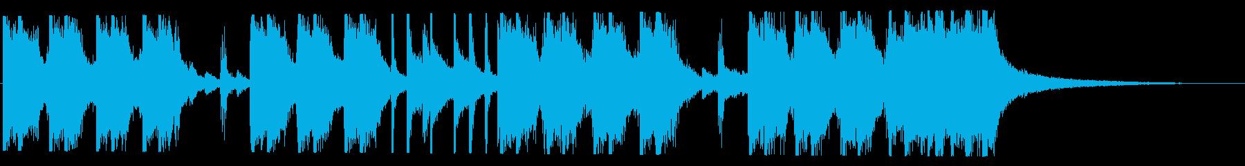 元気なロック調のジングルの再生済みの波形