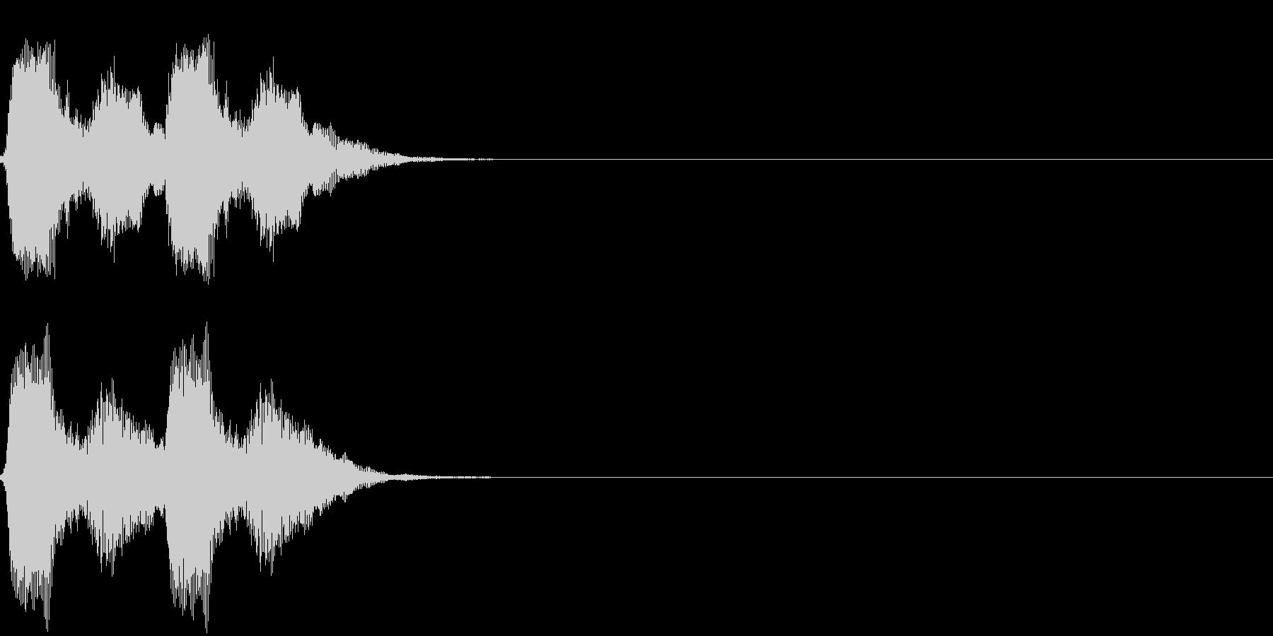 パフパフッの未再生の波形