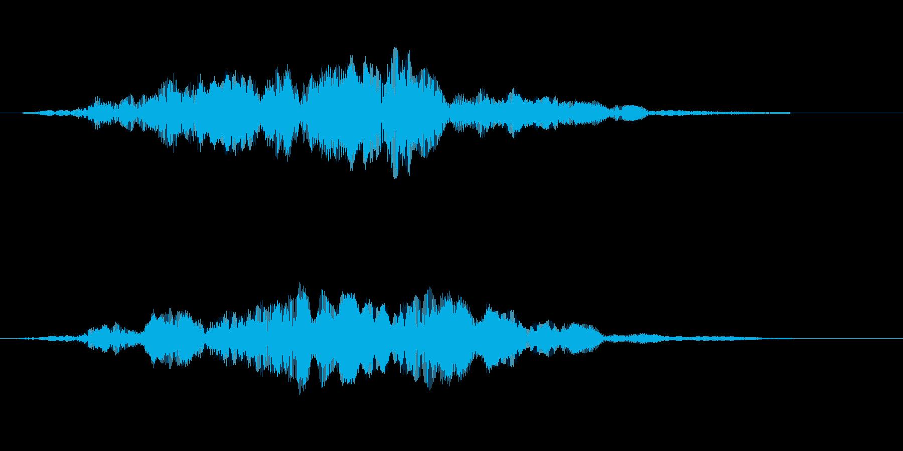 [効果音]天使の歌声、昇天の再生済みの波形
