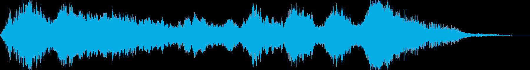 怪しくミステリアスな不協和音の再生済みの波形