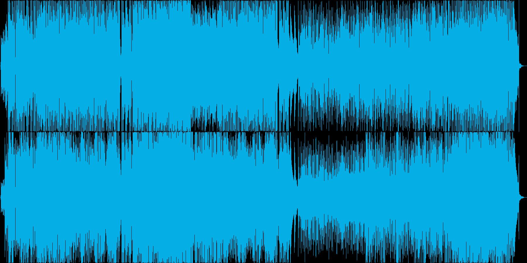 ケルト風ポップインストの再生済みの波形
