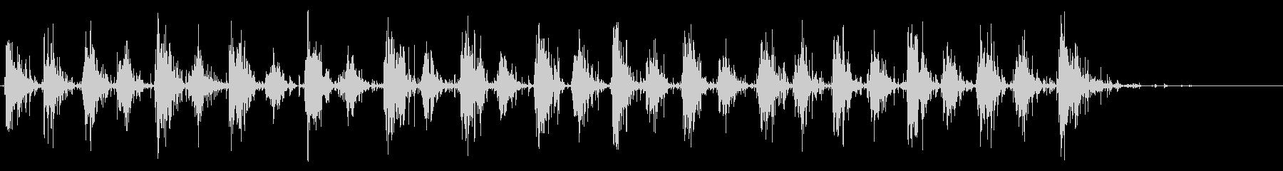 木製シェルシェーカー:リズムシェークの未再生の波形