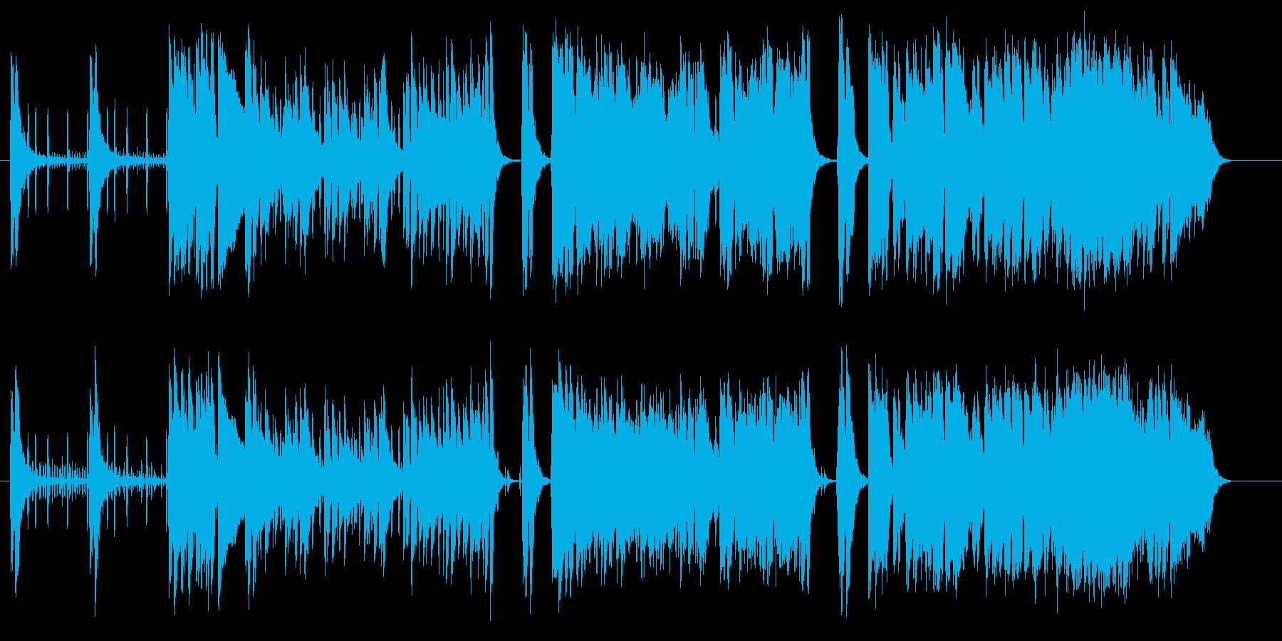 アップテンポの軽快なポップスの再生済みの波形