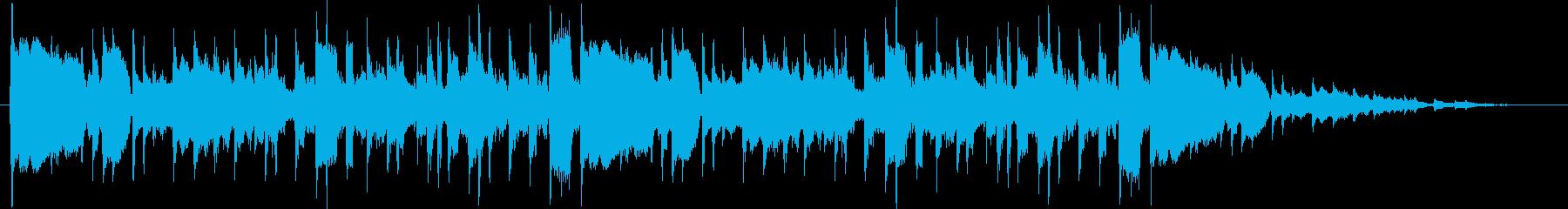 1970年代初期のプログレロックの再生済みの波形
