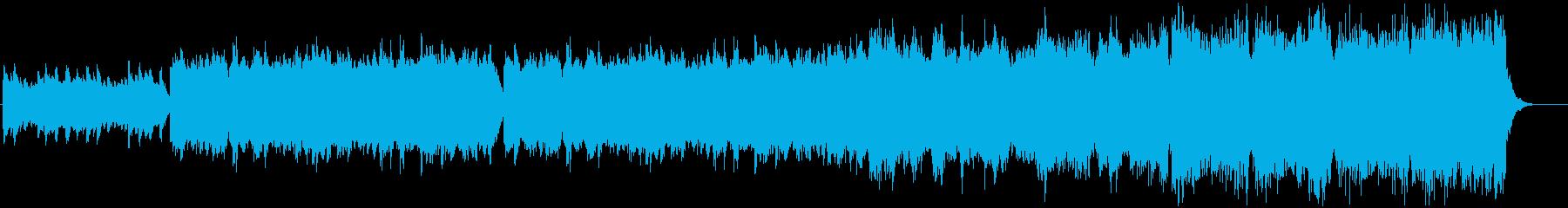 幻想的かつのどかな雰囲気のBGMの再生済みの波形