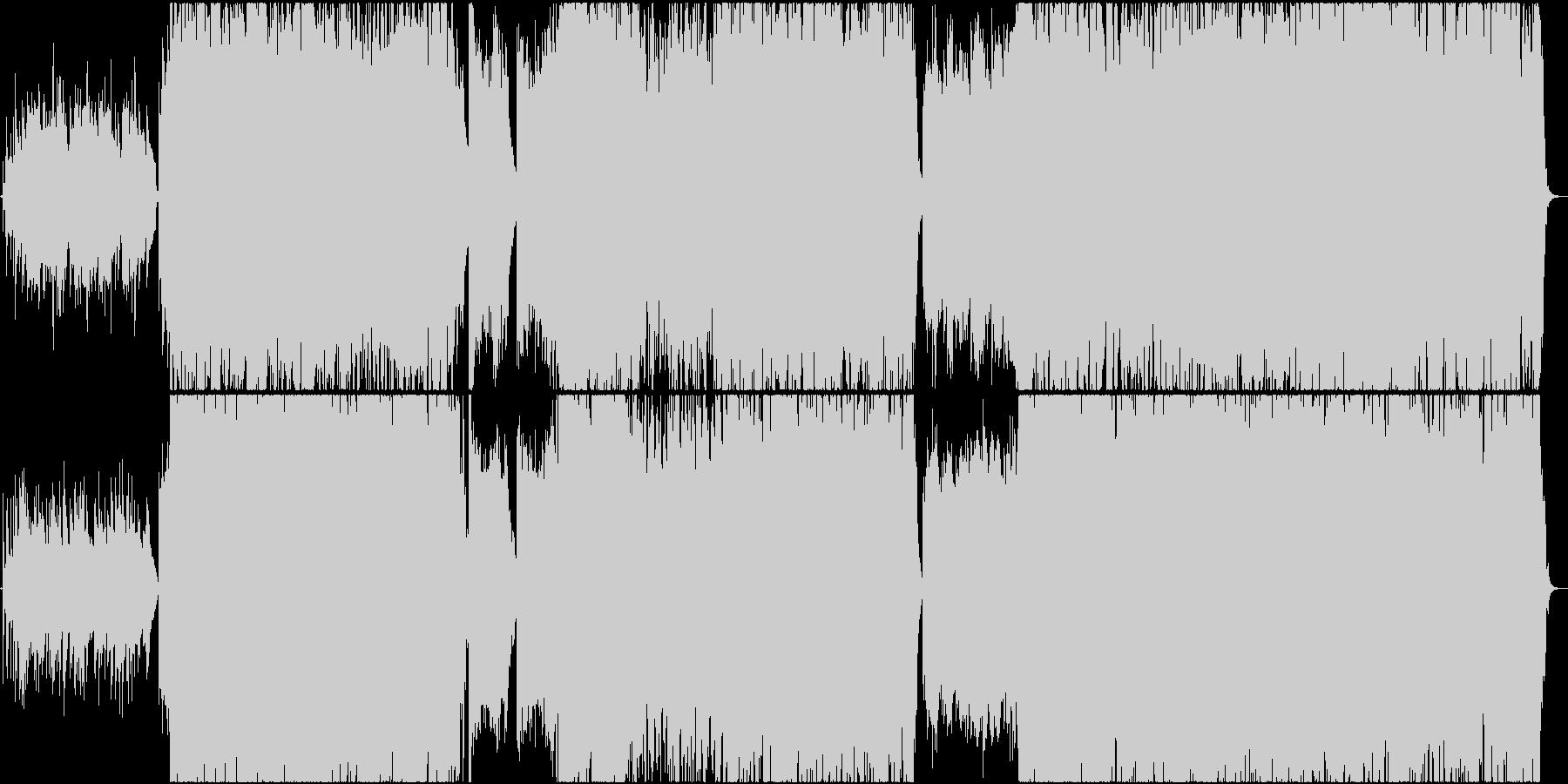 和楽器と中国楽器(二胡、古箏)を使った曲の未再生の波形