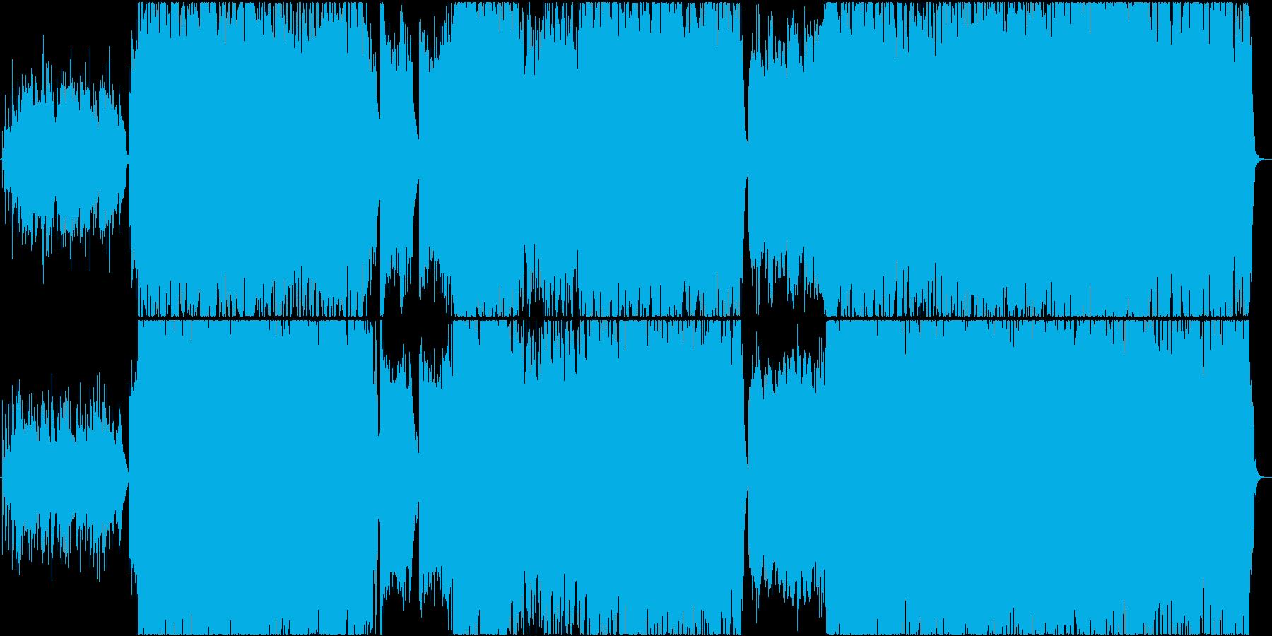 和楽器と中国楽器(二胡、古箏)を使った曲の再生済みの波形