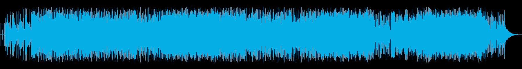 アップテンポでノリのよいポップスの再生済みの波形