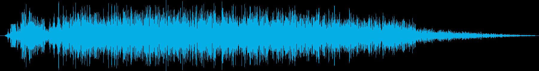 ビシッツとツッコミの再生済みの波形