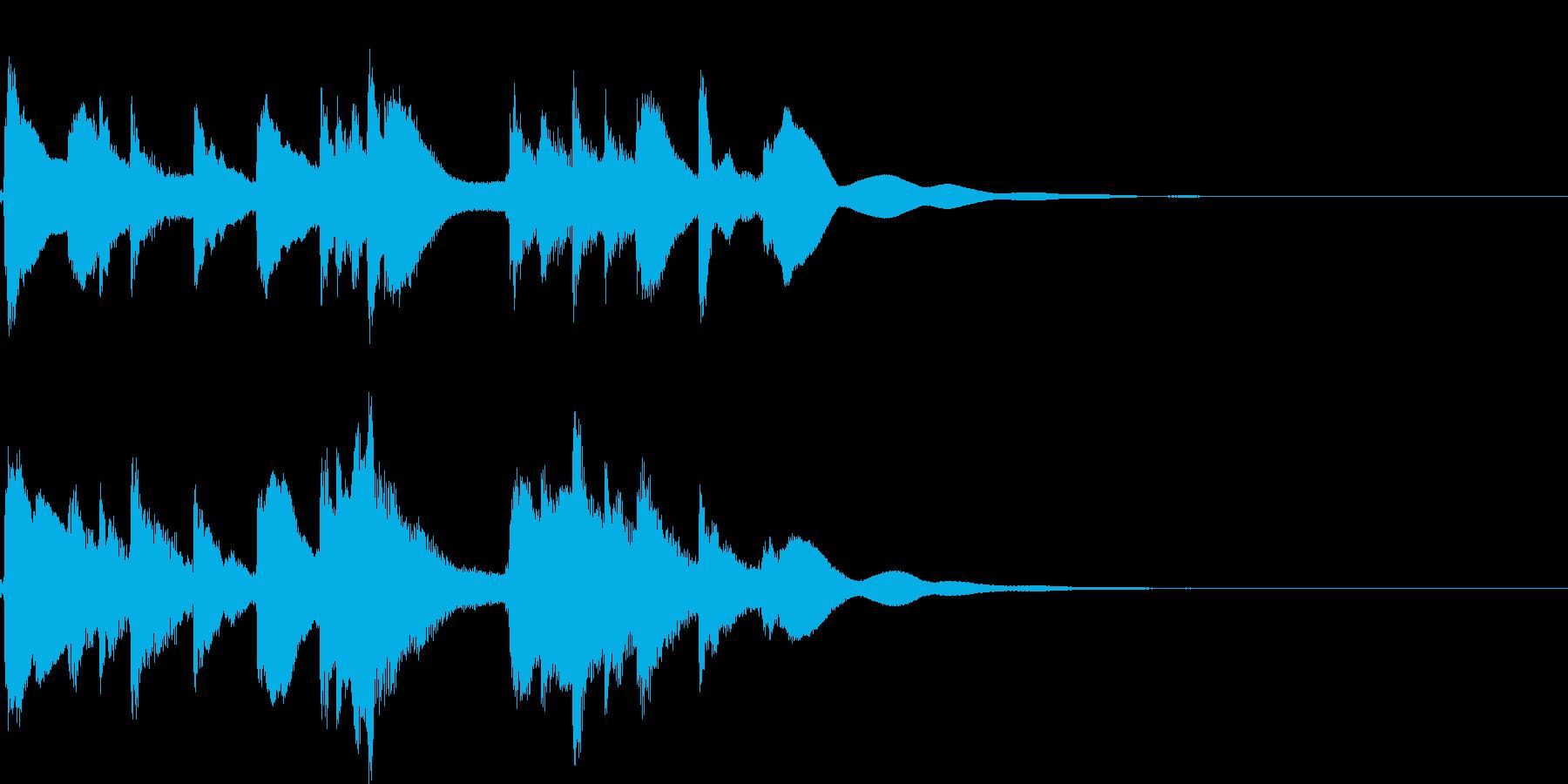 琴☆アイキャッチ3 リバーブ有の再生済みの波形