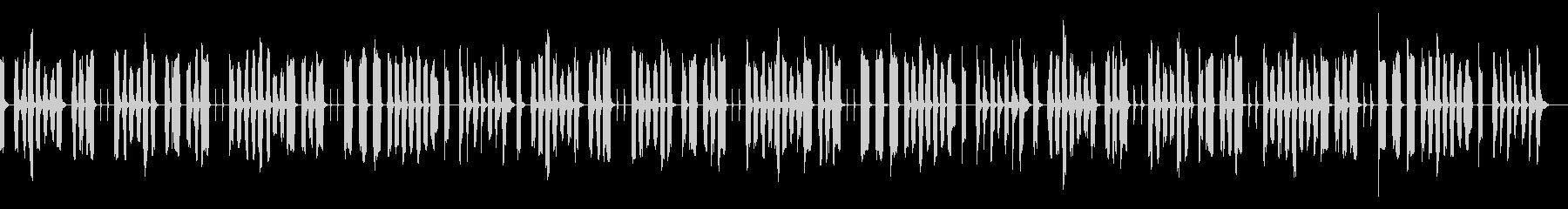 のんびりお遊戯ソング1〜どんぐりころころの未再生の波形