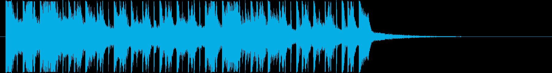 艶やかな踊り子が舞うようなレゲトンBGMの再生済みの波形