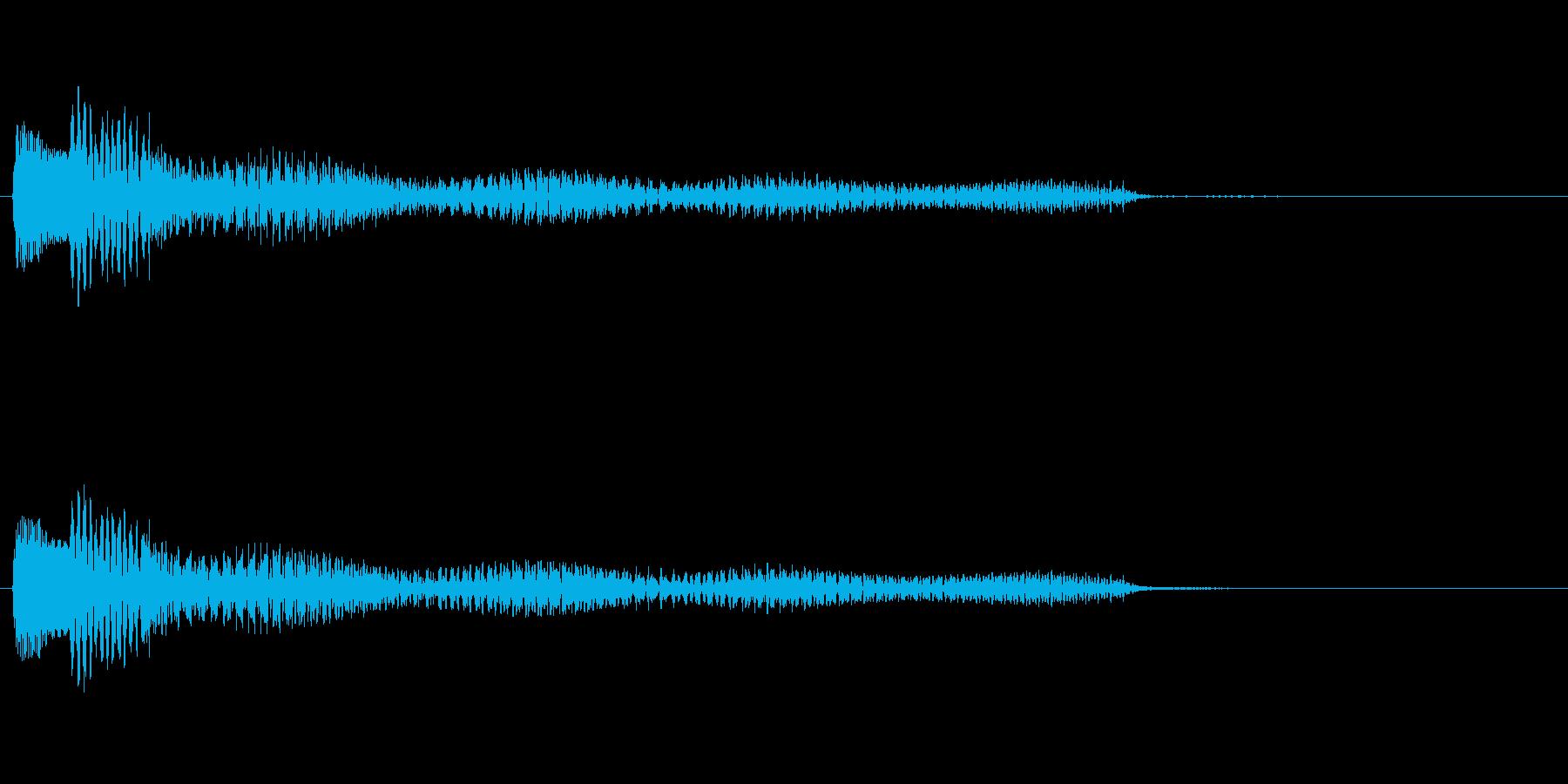 ポロロロン(ハープの低めグリス↓)の再生済みの波形