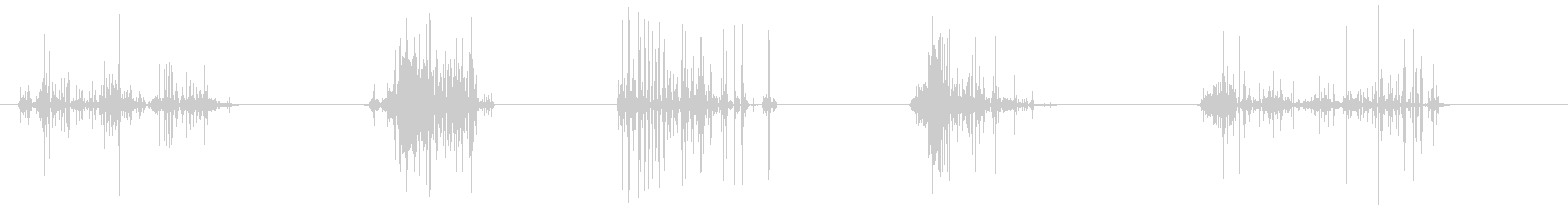 ドライアイスの未再生の波形