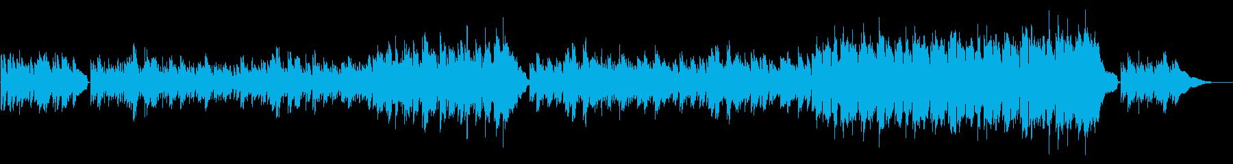 回想シーン等に切ない系スローバラードの再生済みの波形