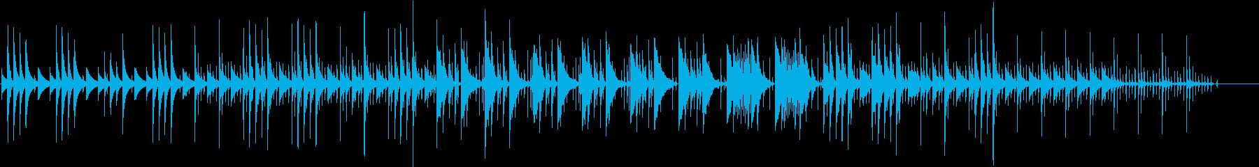 ゆったりと寛ぎたい時に聞く曲の再生済みの波形