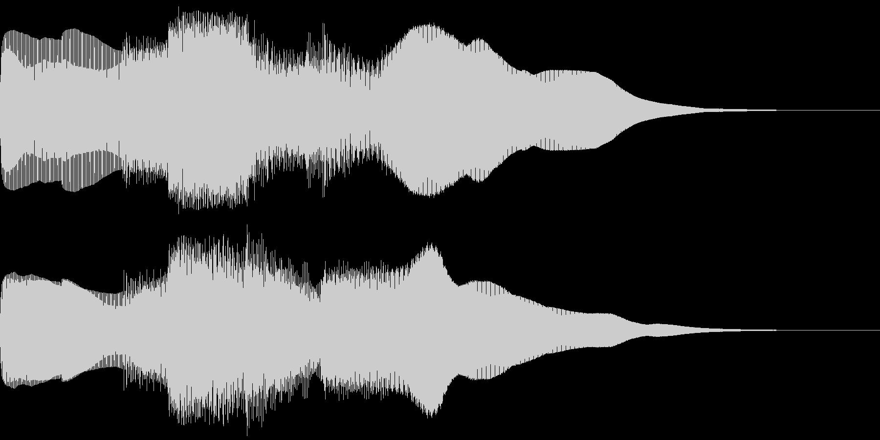 シンプルなレベルアップ音ですの未再生の波形