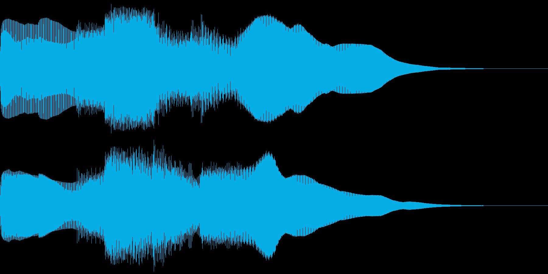 シンプルなレベルアップ音ですの再生済みの波形