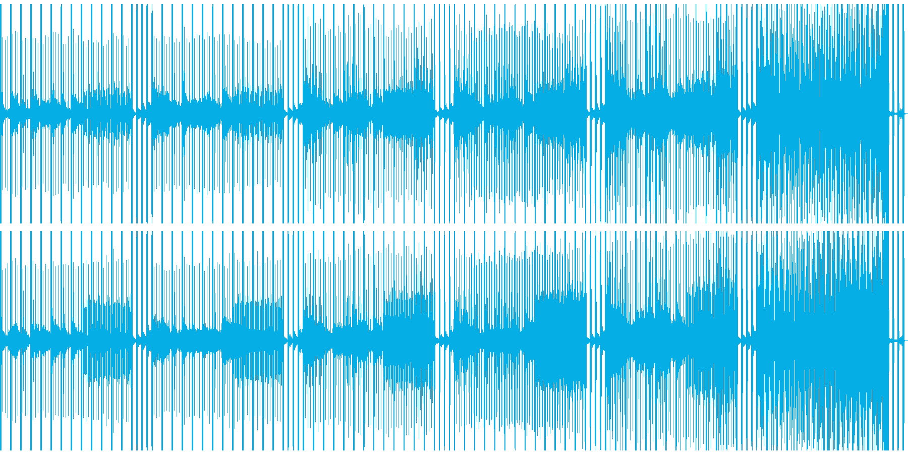 心音と時計で高まる期待感のあるBGMの再生済みの波形