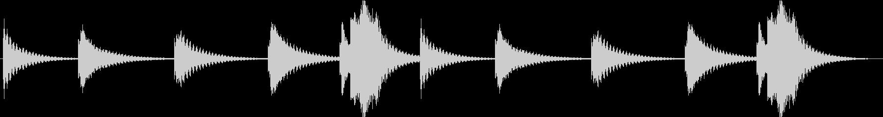 非常にユニークで奇妙なビブラフォン...の未再生の波形